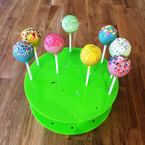 Cake Pop Stand Round - Lime Green