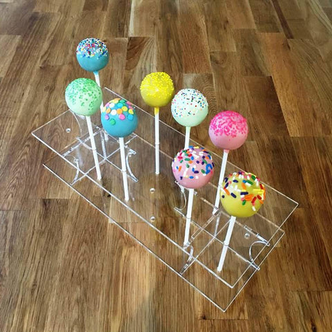 Cake Pop Stand Rectangle - Clear