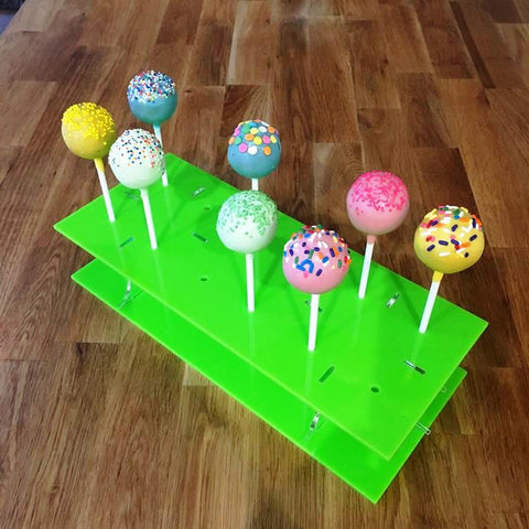 Cake Pop Stand Rectangle - Lime Green