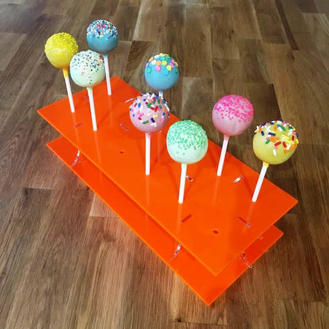 Cake Pop Stand Rectangle - Orange
