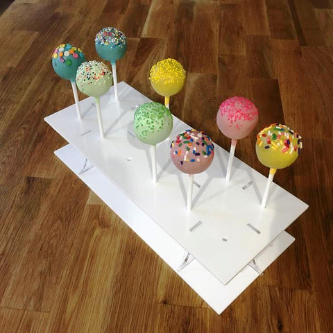 Cake Pop Stand Rectangle - White