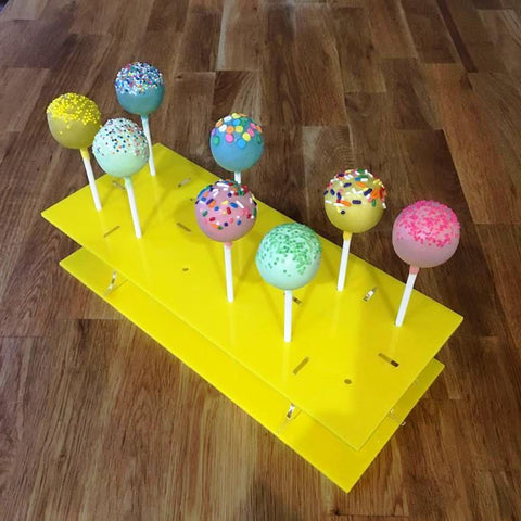 Cake Pop Stand Rectangle - Yellow