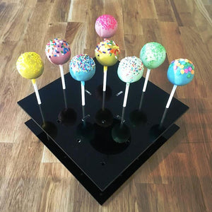 Cake Pop Stand Square - Black