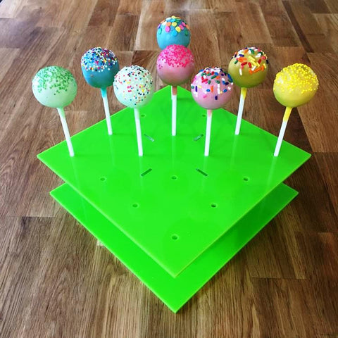 Cake Pop Stand Square - Lime Green