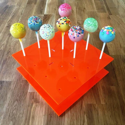 Cake Pop Stand Square - Orange