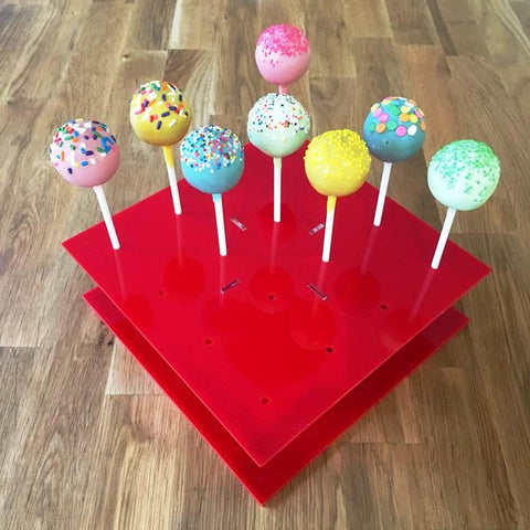 Cake Pop Stand Square - Red