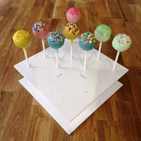 Cake Pop Stand Square - White