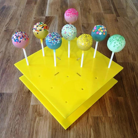 Cake Pop Stand Square - Yellow