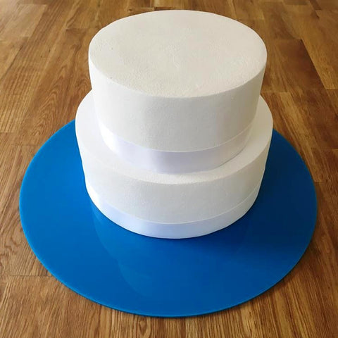 Round Cake Board - Bright Blue