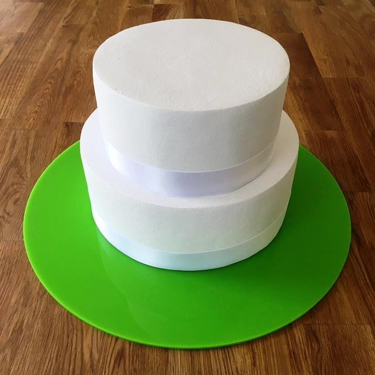 Round Cake Board - Lime Green