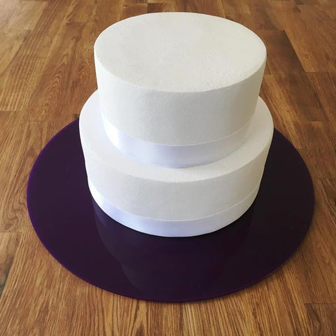 Round Cake Board - Purple