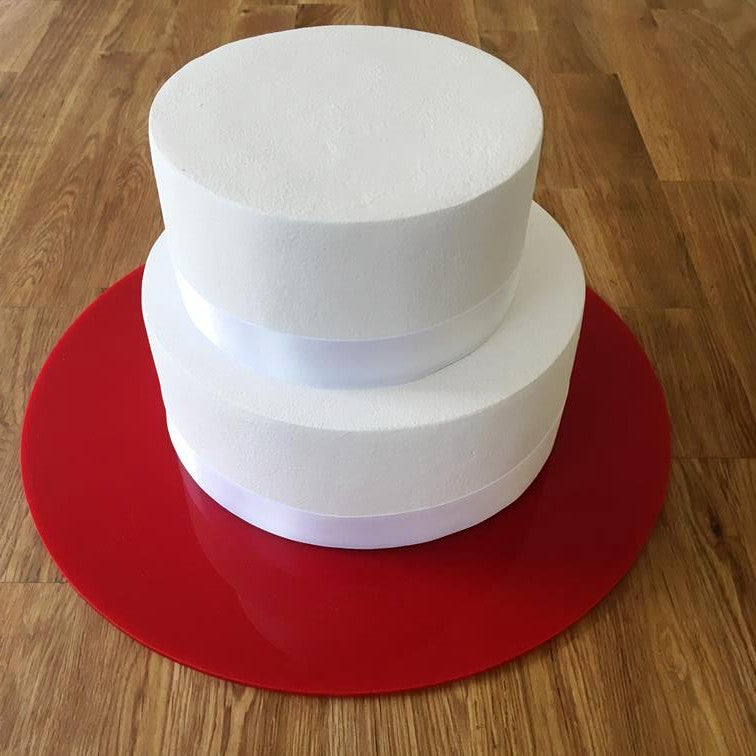 Round Cake Board - Red