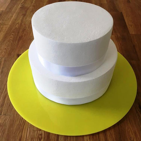 Round Cake Board - Yellow