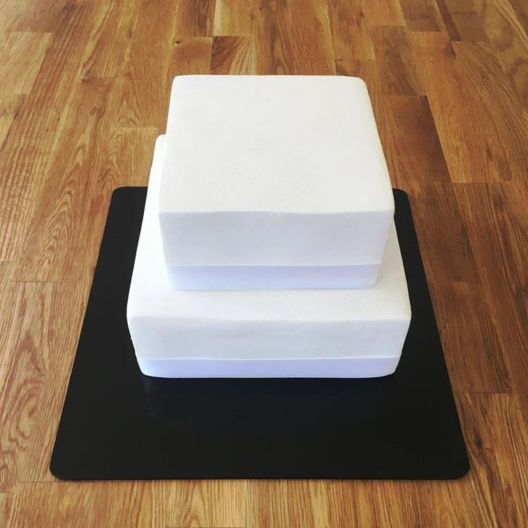 Square Cake Board - Black