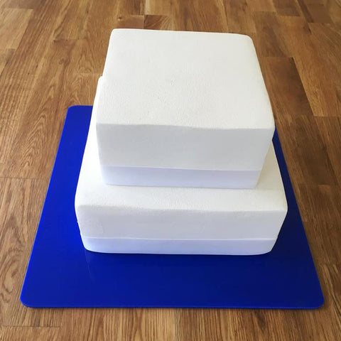 Square Cake Board - Blue