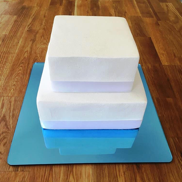 Square Cake Board - Blue Mirror