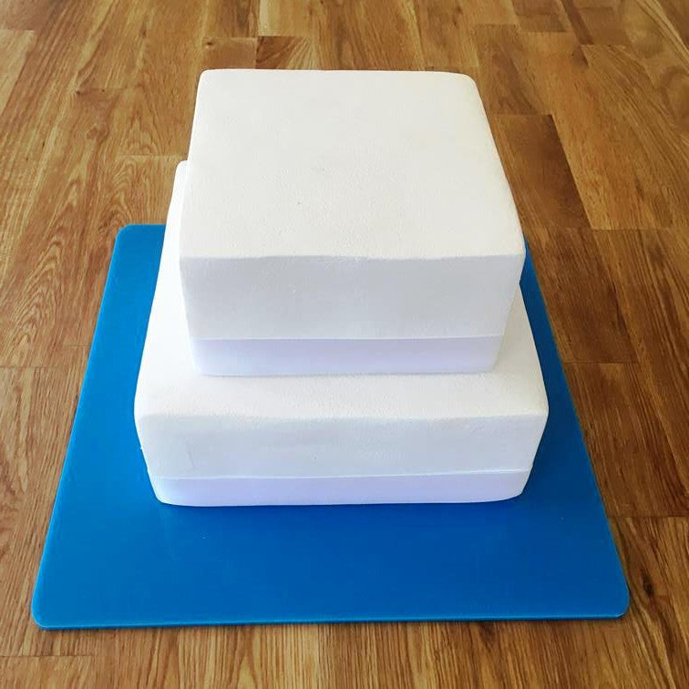 Square Cake Board - Bright Blue