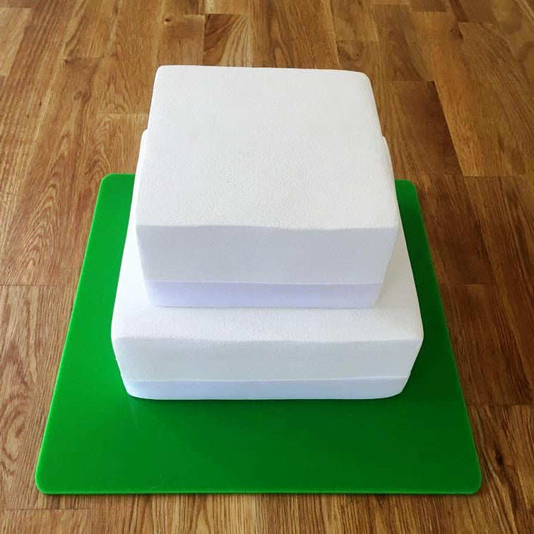 Square Cake Board - Bright Green