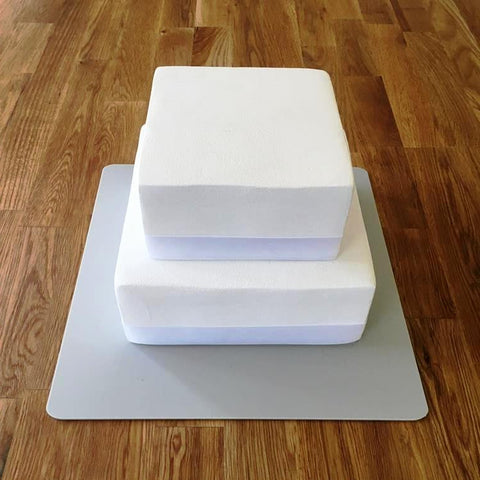 Square Cake Board - Light Grey