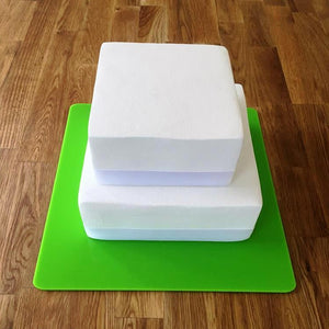 Square Cake Board - Lime Green