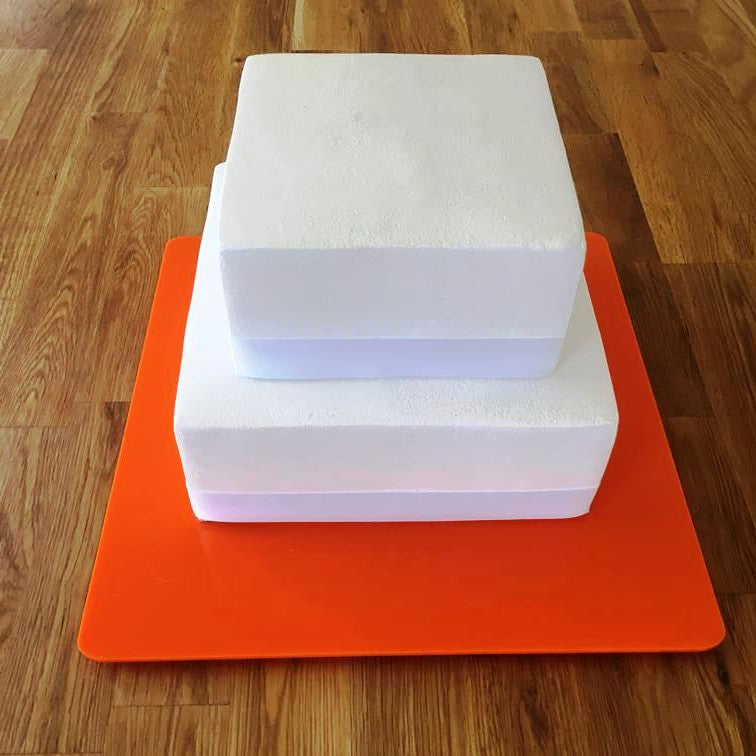 Square Cake Board - Orange