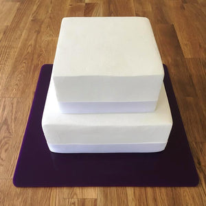 Square Cake Board - Purple