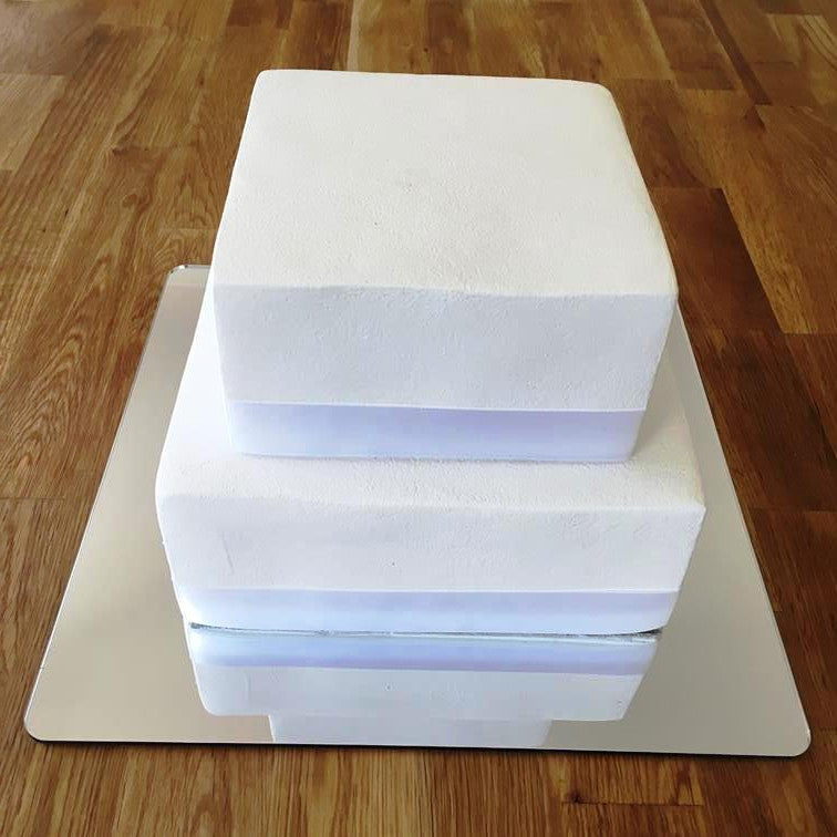 Square Cake Board - Silver Mirror