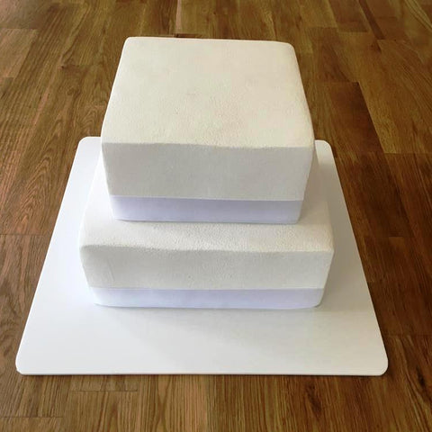 Square Cake Board - White