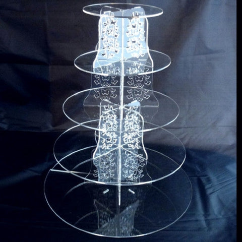 Five Tier Butterfly Design Round Cake Stand