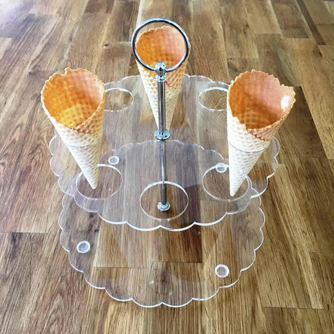 Ice Cream Cone Stand - Clear