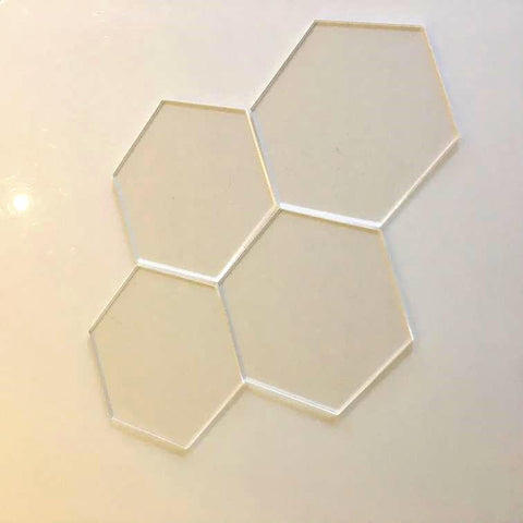 Hexagon Tiles - Clear