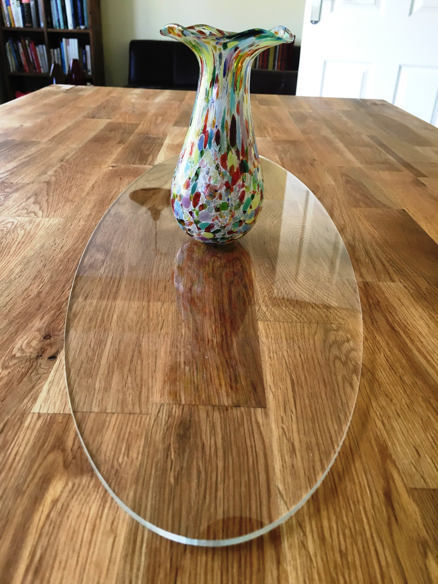 Clear Oval Acrylic Table Runner