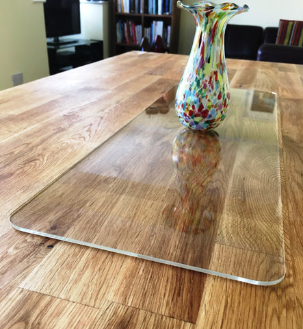 Clear Rectangular Acrylic Table Runner