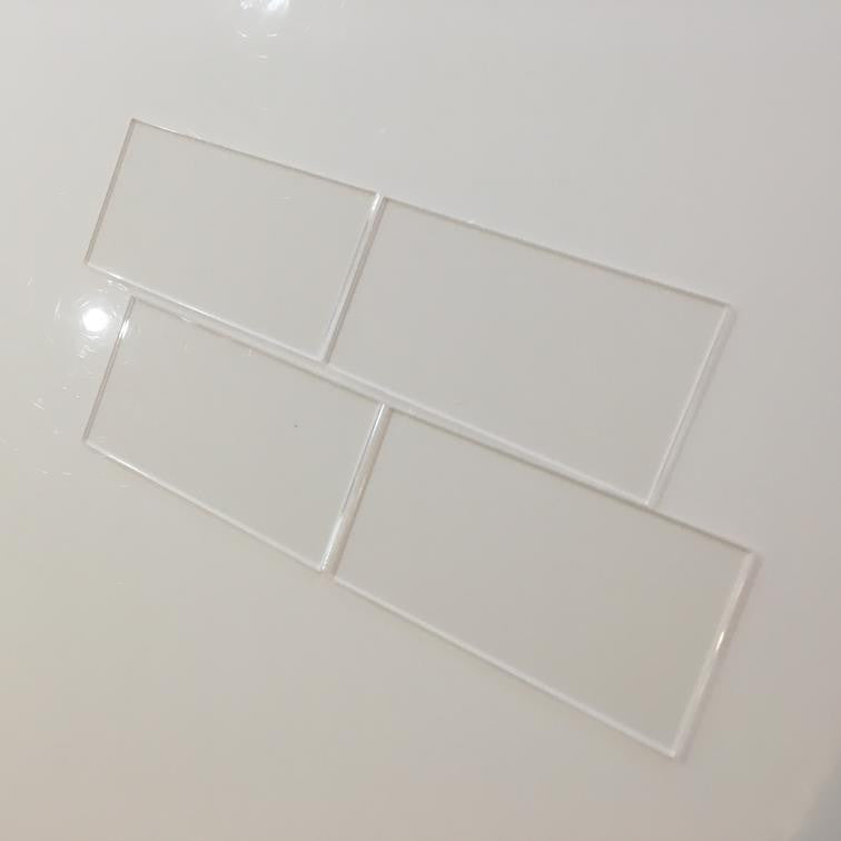 Rectangular Tiles - Clear