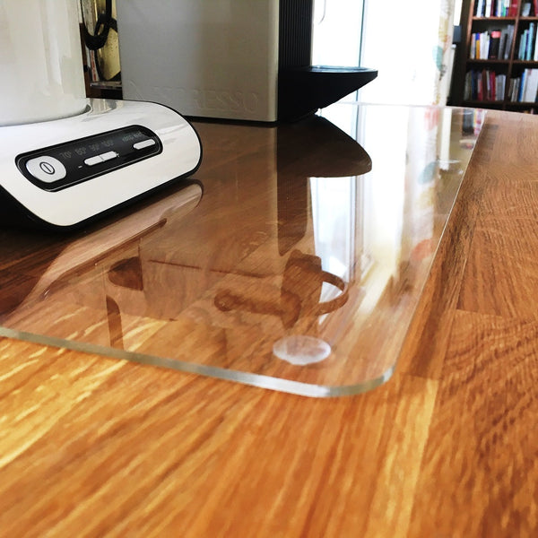 Pebble Serving Mat/Table Protector - White Gloss