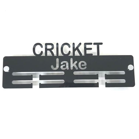 "Personalised ""Cricket"" Medal Hanger"