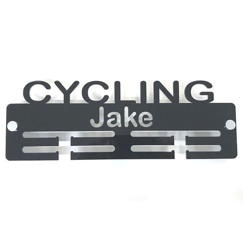 "Personalised ""Cycling"" Medal Hanger"