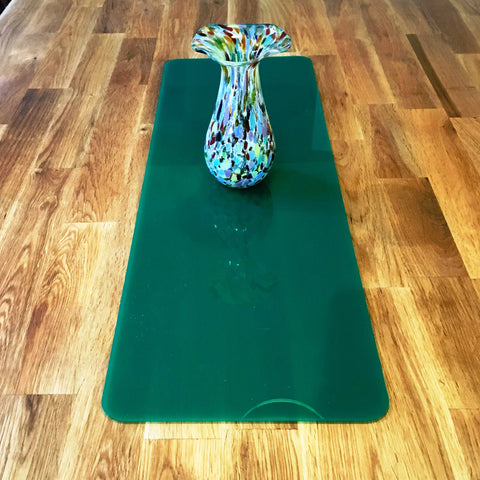 Dark Green Rectangular Acrylic Table Runner