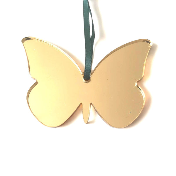 Butterfly Christmas Tree Decorations Mirrored