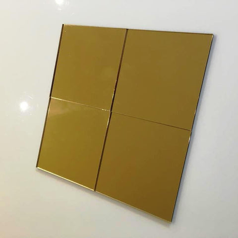 Square Tiles - Gold Mirror