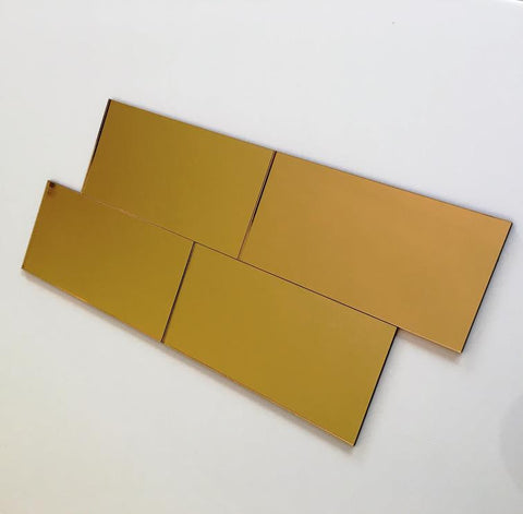 Rectangular Tiles - Gold Mirror