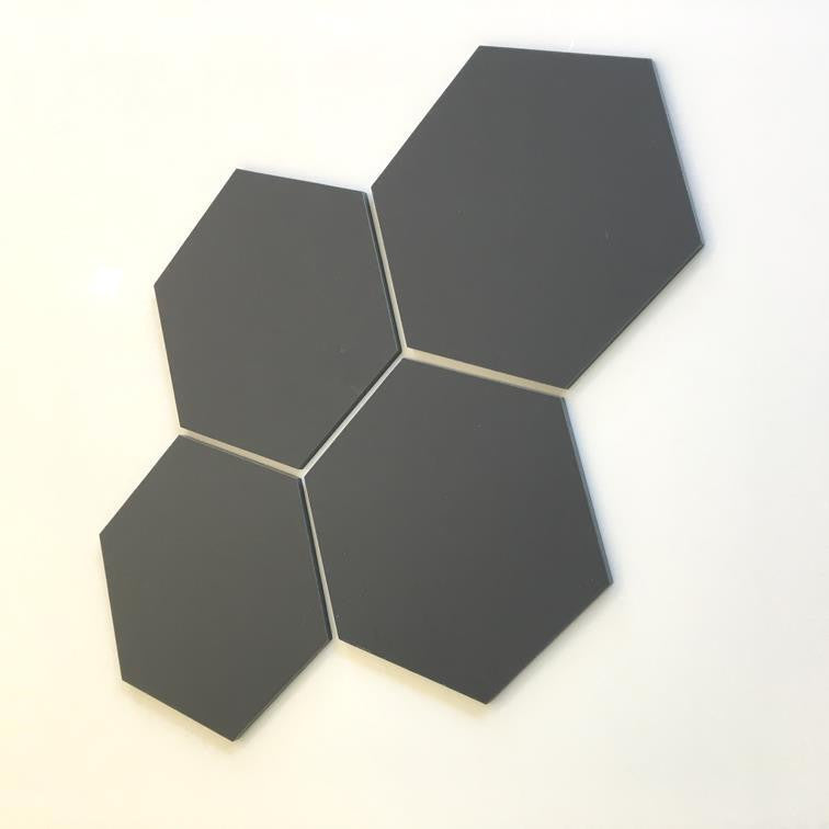 Hexagon Tiles - Graphite Grey