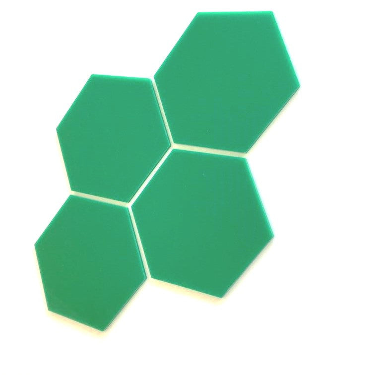 Hexagon Tiles - Green