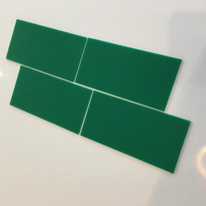 Rectangular Tiles - Green