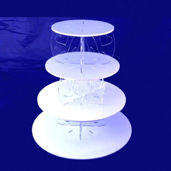 Four Tier High Heel and Heart Design Round Cake Stand