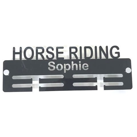 "Personalised ""Horse Riding"" Medal Hanger"