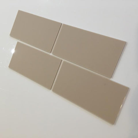 Rectangular Tiles - Latte