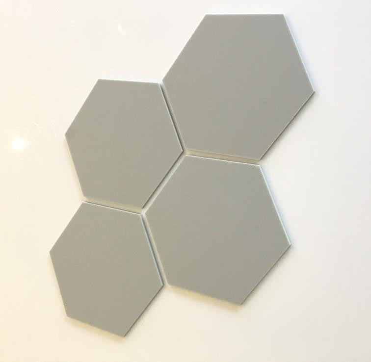 Hexagon Tiles - Light Grey