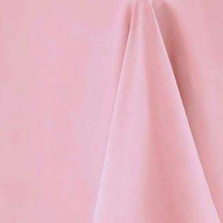 Light Pink Round Tablecloth