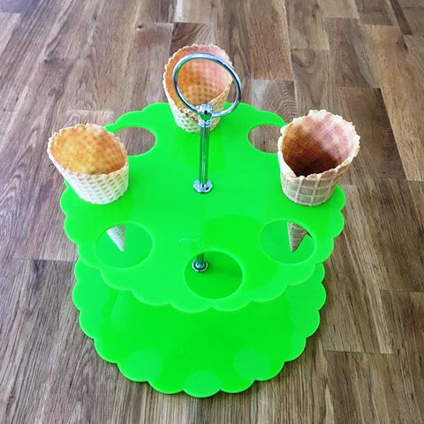 Ice Cream Cone Stand - Lime Green